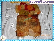 Marinated pangasius oven