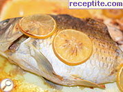 Stuffed carp with bacon and cheese