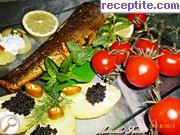 Trout with spices oven