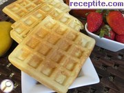 Waffles with chocolate spread