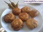 Potato with chicken meatballs and cheese