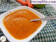 Spa carrot soup with apples and ginger