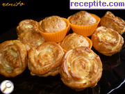 Muffins with feta cheese and mayonnaise