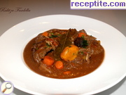 Mexican soup with beef shank