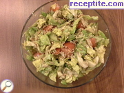 Salad with raw sprouted seeds