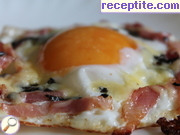 Fried eggs with truffles