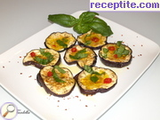 Aromatic village style appetizer of eggplant