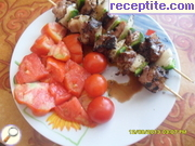Pork skewers with vegetables