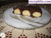 Chocolate cheesecake, coconut balls