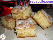 Cake with apples and prunes