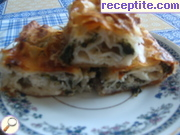 Ready spinach dish with pastry