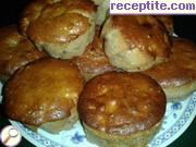Muffins with honey, apples and cinnamon