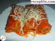 Cannelloni with mince and cheese
