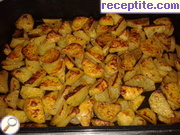 Potatoes roasted with balsamic vinegar