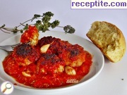Meatballs with tomato sauce in the oven