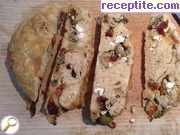 Pita with dried tomatoes, feta cheese and olives - II type