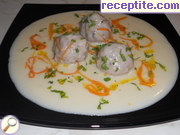 recipe photo 2 Meatballs in white sauce with orange sauce