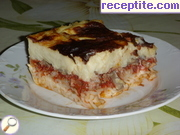 Pastitsio with two sauce