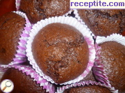 Banana muffins with double chocolate