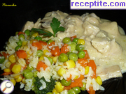 Chicken with cream stew