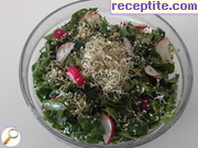 Salad with spinach and alfalfa