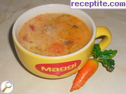 Soup balls with boiled soup thickener