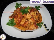 recipe photo 1 Chicken with mushrooms and bamboo with aromatic tomato sauce
