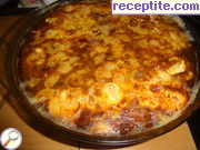 Pasta with minced meat in the oven
