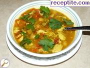 Яхния с нахут, пилешко и зеленчуци