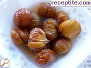 Candied chestnuts in syrup