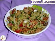 Fragrant salad with avocado and couscous