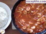 снимка 1 към рецепта Скариди в доматен сос