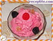 Fruit ice cream with yogurt