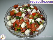 Greek salad with sheep cheese