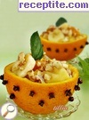 Orange salad with bananas and honey