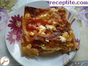 Lasagna with minced meat and vegetables