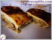 Vegan moussaka with zucchini and cheese