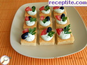 Party bites with aromatic cheese