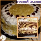 Layered cake with caramelized nuts Zebra