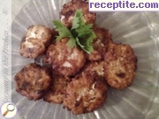 Chicken meatballs with cheese and processed cheese