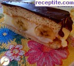 Chocolate-banana layered cake with lots of cream Lucy