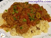 North African meatballs with couscous
