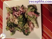 Salad of fresh broccoli