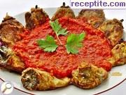 Панирани чушки с доматен сос