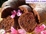 Economical sponge cake without eggs with sweet
