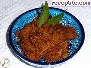 Dry curry with lamb