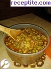 Peas stew with chicken