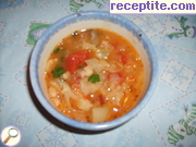 Vegetable soup with smoked breast