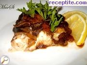 Trout with mushroom ragout