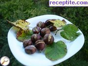 Roasted chestnuts in the oven